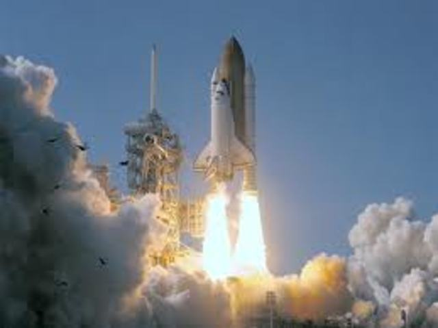 Space Shuttles' first launch