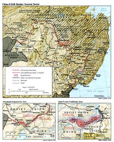 China and the Soviet Union continue to have border clashes, known as the Sino-Soviet Conflict.