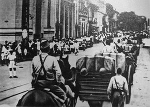 Japanese invade French Indochina (Viet. Laos, Cambodia)