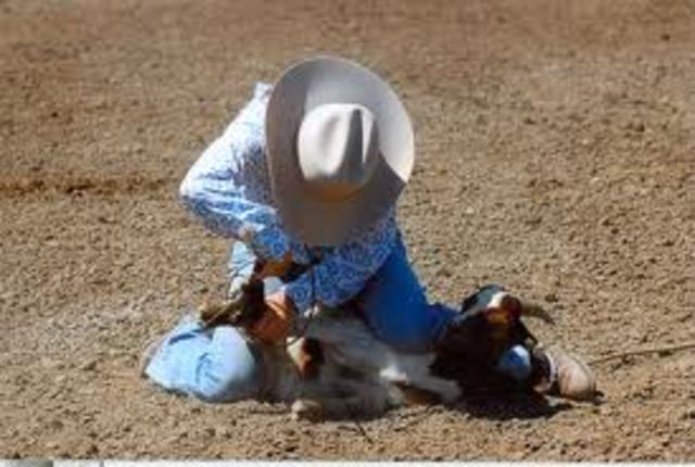 Won a goat tying rodeo event