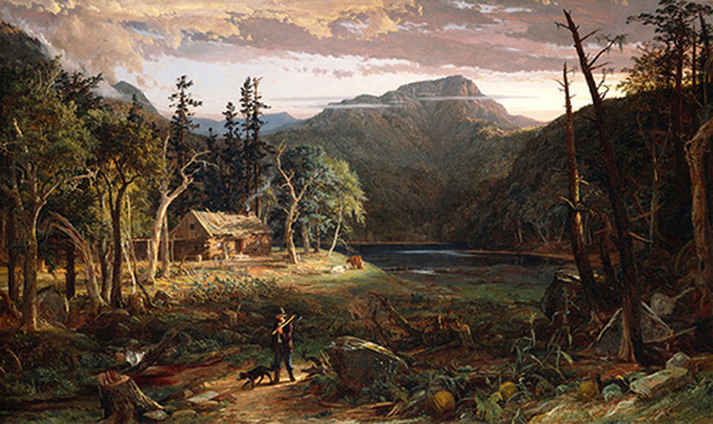 The Backwoods of America by Jasper Francis Cropsey is painted