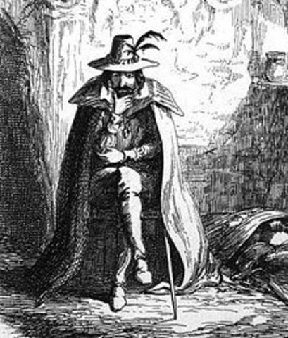 Guy Fawkes is thwarted when he tries to blow up Parliament.