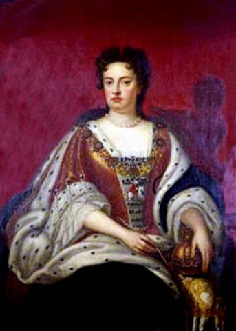 Anne Stewart, Princess of Denmark, becomes Queen Anne of England