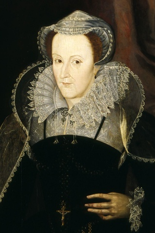 Mary, Queen of Scots lays claim to the English throne