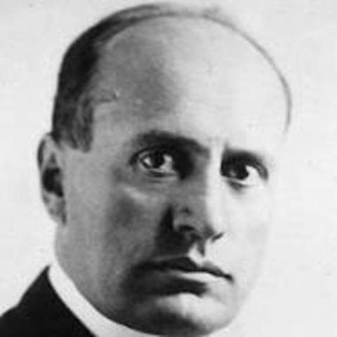1922 Benito Mussolini appointed Prime Minister of Italy