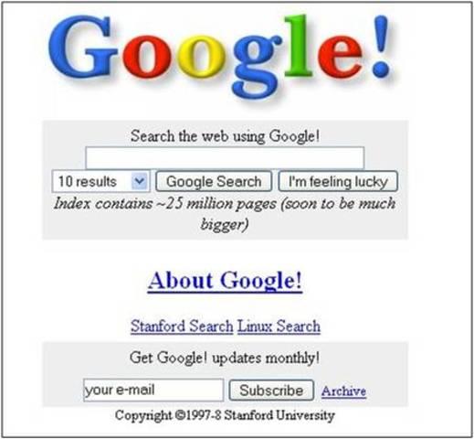 Aparece Google…