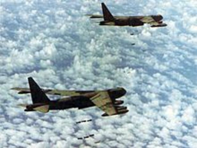 Communist sanctuaries in Cambodia are bombed by the United States.