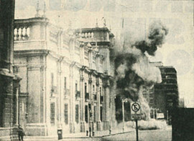 Chilean Marxist President Salvador Allende is overthrown via a coup d'etat led by Augusto Pinochet who received backing from the US.