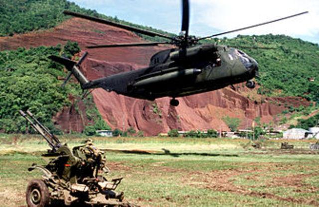 U.S. troops invades