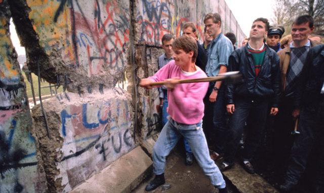 Berlin Wall is demolished
