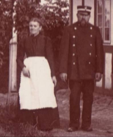 Caroline Jacobsen og Rasmus Jacobsen - morfars farmor og farfar