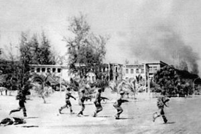 A pro-Vietnam/pro-Soviet government is installed in Cambodia after Vietnam deposes the Khmer Rouge.