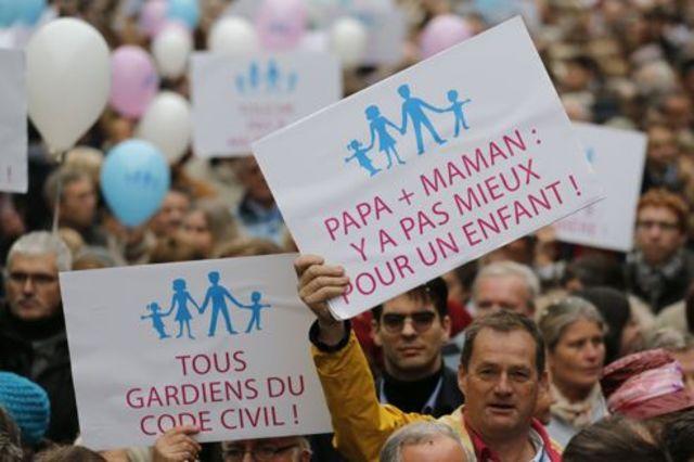 Manifestations anti-mariage gay en province