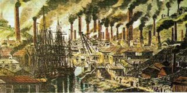 Revolución Industrial ( entre la segunda mitad del siglo XVIII y principios del XIX)