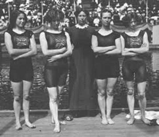 Womens Swimming added to the Olympics