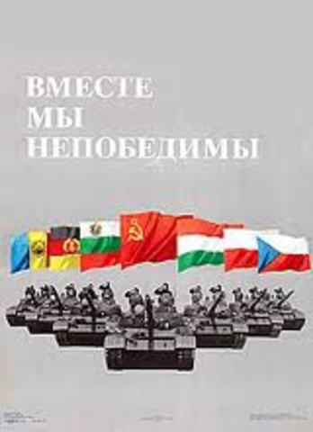 The Warsaw Pact was Formed
