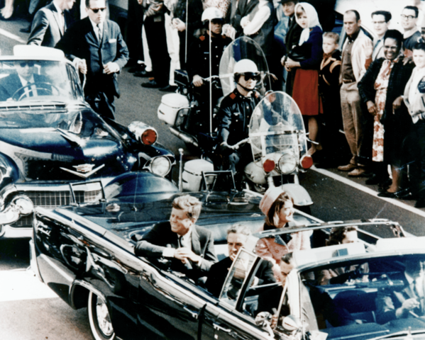 President Kennedy assassinated in Dallas, Texas by Lee Harvey Oswald
