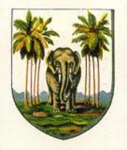 English take over Ceylon