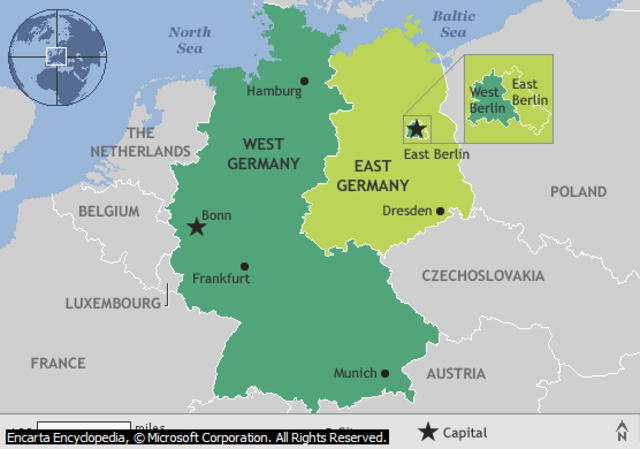 East/West Germany Formed