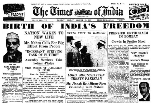 India Declares Freedom
