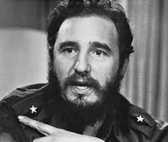 Fidel Castro comes into power after the Cuban Revolution