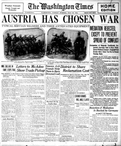 Austria-hungary declares war.