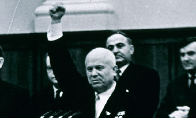 Khrushchev becomes the new leader of the Soviet Union