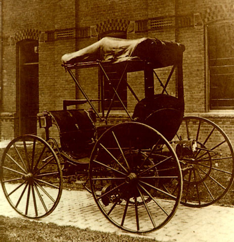 1st Gasoline-Powered Automobile