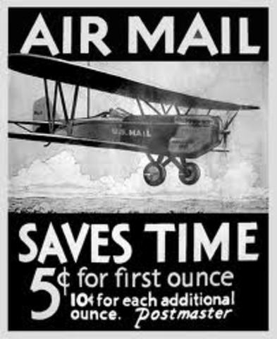 Airmail service inaugurated