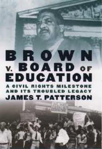 The Brown Vs. Borad Of Education case begins