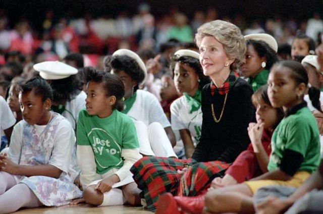 "Nancy Reagan and the ""Just Say No"" campaign"