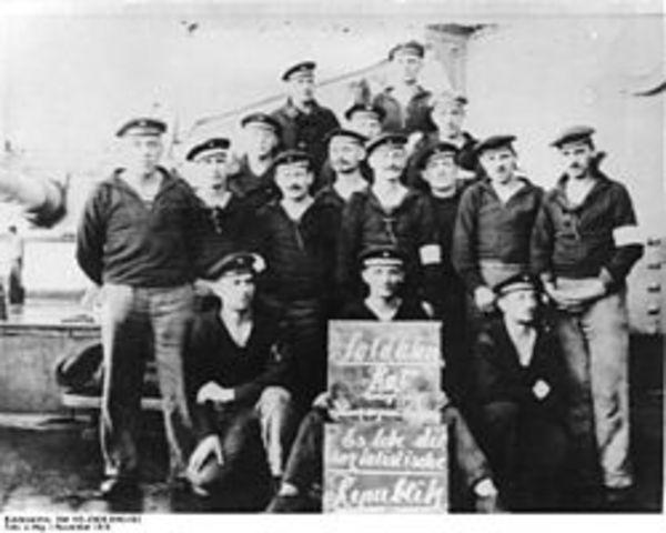 Germany's navy mutinied