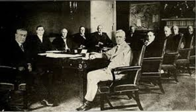 President Wison had a Cabinet meeting