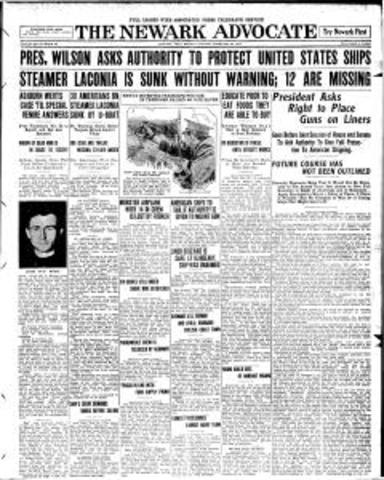 President Wilson asks Congress to arm merchant ships
