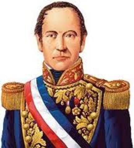 José Joaquín Prieto presidente de Chile