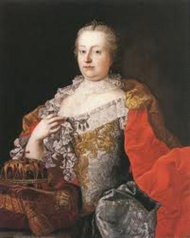 Maria Theresa inherited the throne.