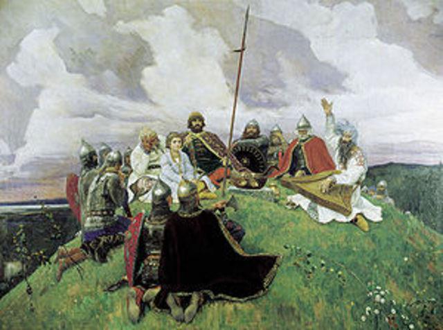Slavic settlements of the 600s