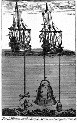 Edmund Halley designed and built a diving bell.