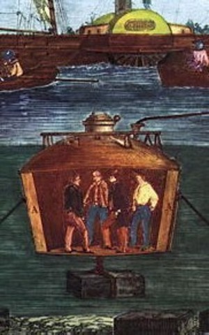 The British John Smeaton created the first modern diving bell.