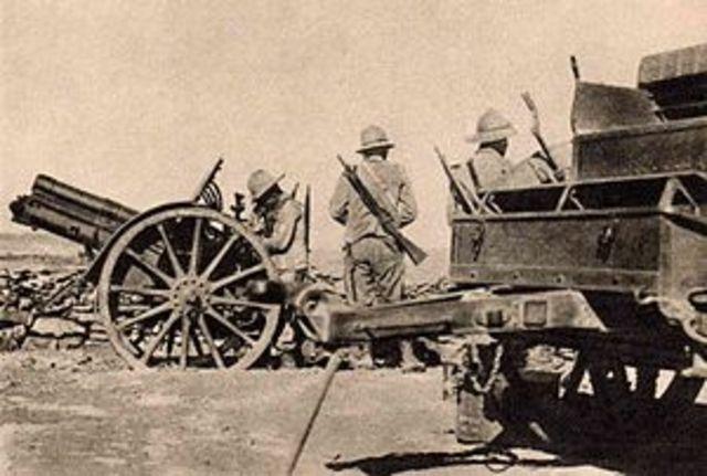 1935 Italian Army invades Ethiopia in Africa