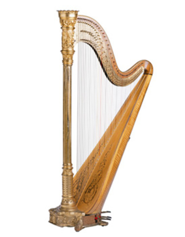 Harps were added to orchestras