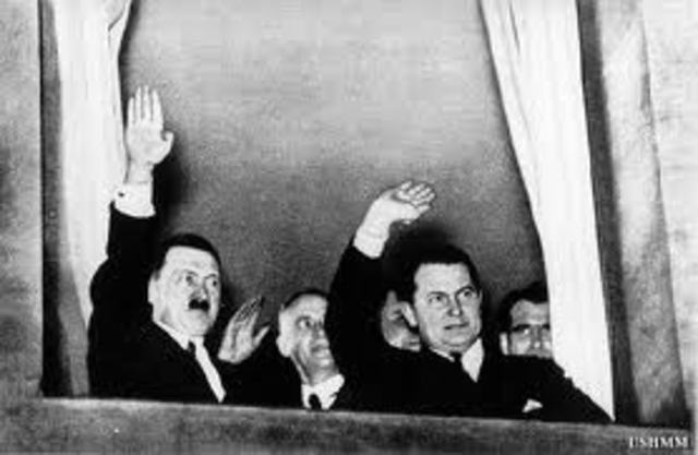 Adolf HItler is named Chancellor of Germany
