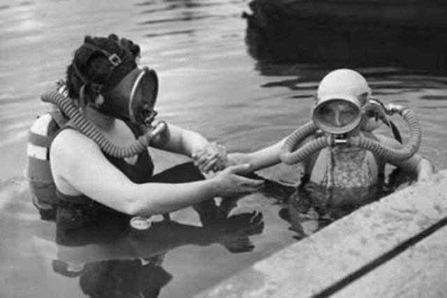 """Enlgish inventor, William James, creates the """"First workable, full-time SCUBA."""""""