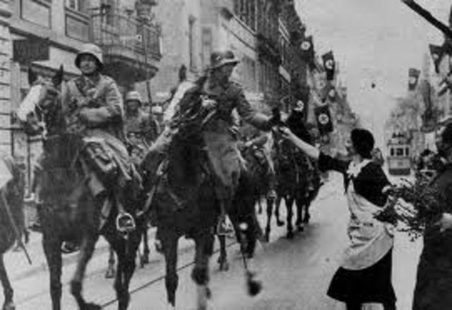 Hitler invades Rhineland