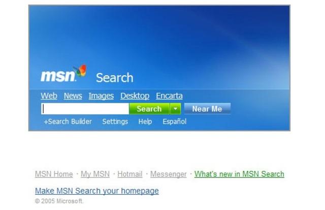 MSN Search primer buscador de Microsoft