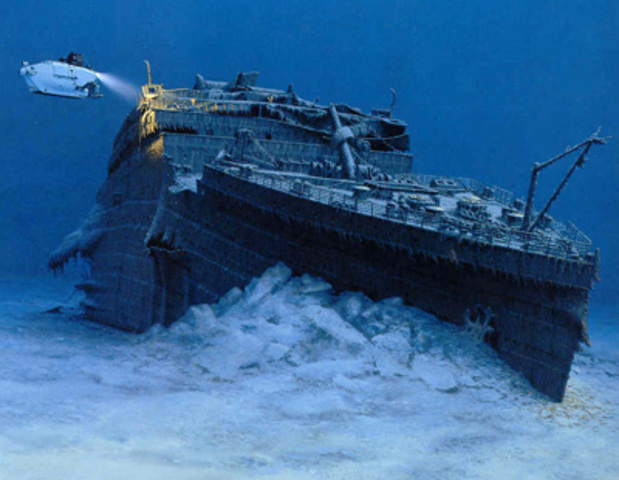 The wreck of the Titanic is found.