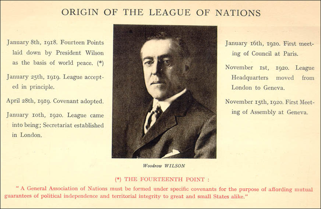 Proposal to create the League of Nations accepted