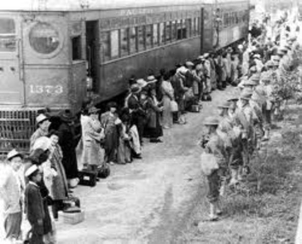 1942 Japanese Americans interned in isolated camps