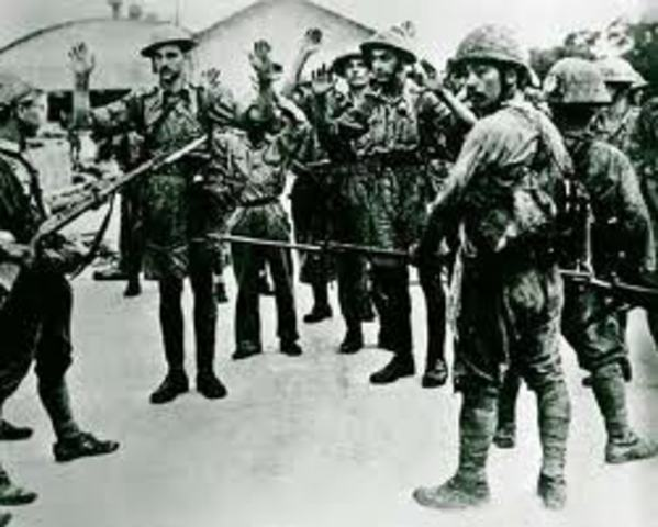 Phillipens fall to Japanese- Bataan Death March