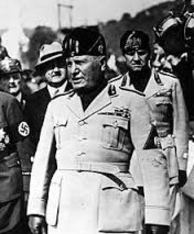 Italy surrenders and Mussolini was dissmied as Prime MInister